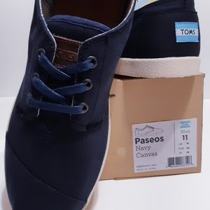 TOMS Paseos Navy Canvas
